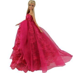 abendkleid prinzessin kleidung dress kleider f r barbie puppe ebay. Black Bedroom Furniture Sets. Home Design Ideas