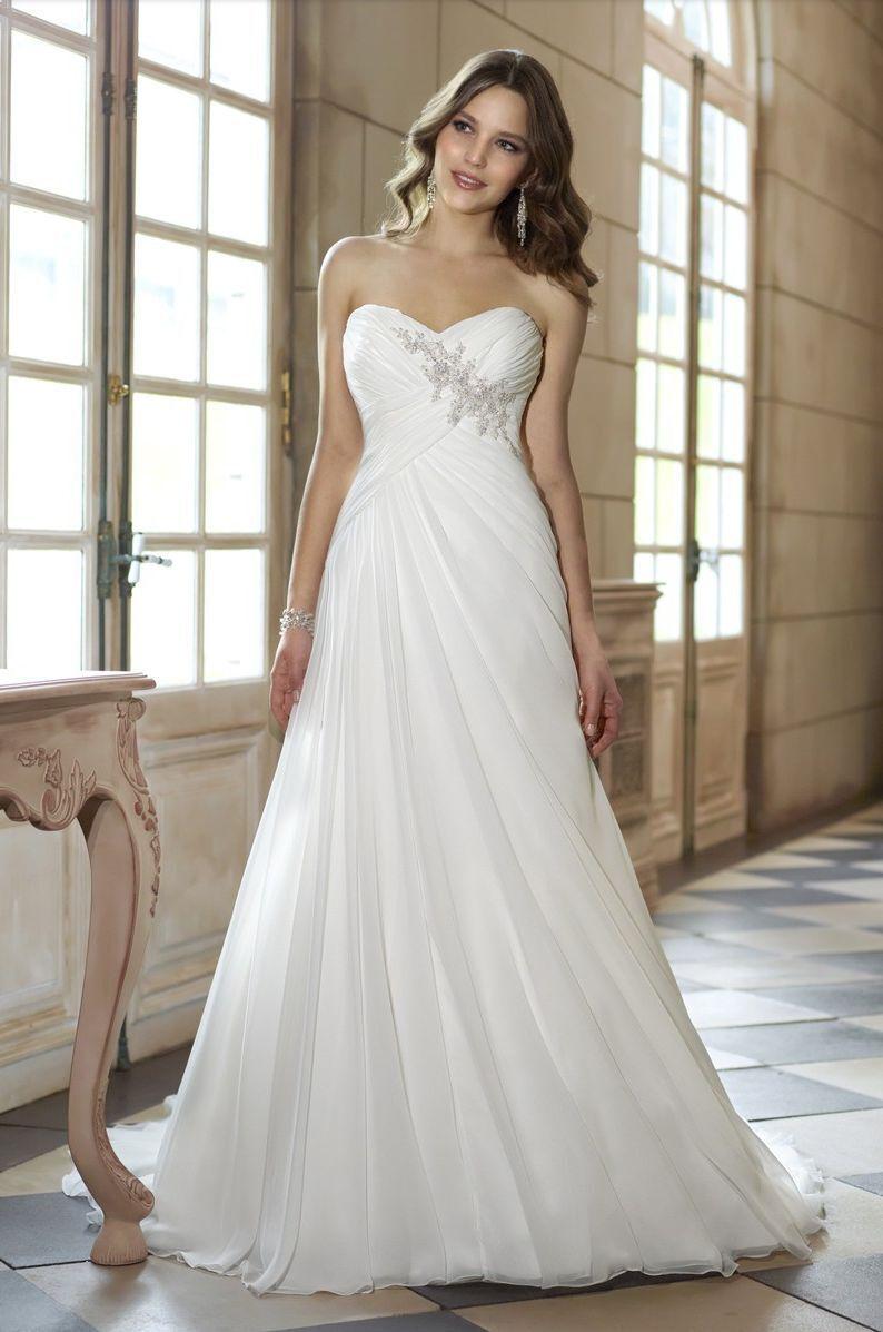Chiffon Bianco Avorio Colore a scelta A00106 Wedding dress Abito da sposa