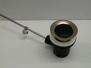 Ablaufgarnitur-Schwarz-Matt-Edelmessing-Ablaufventil-Excenter-Waschtisch