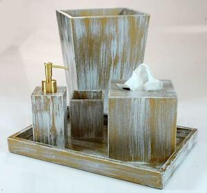 Absolutely luxurious rustic collection handmade bathroom for White and gold bathroom accessories