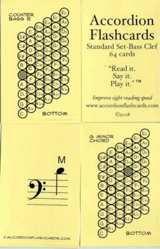Accordion Flashcards- learn bass buttons easily! in Musical Instruments & Gear, Accordion & Concertina | eBay