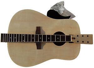 acoustic guitar steel string dreadnought diy kit build your own guitar ebay. Black Bedroom Furniture Sets. Home Design Ideas