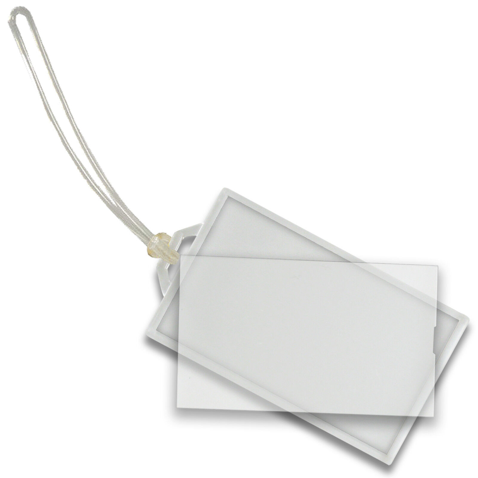 luggage tag snap in business card crystal clear acrylic lt70