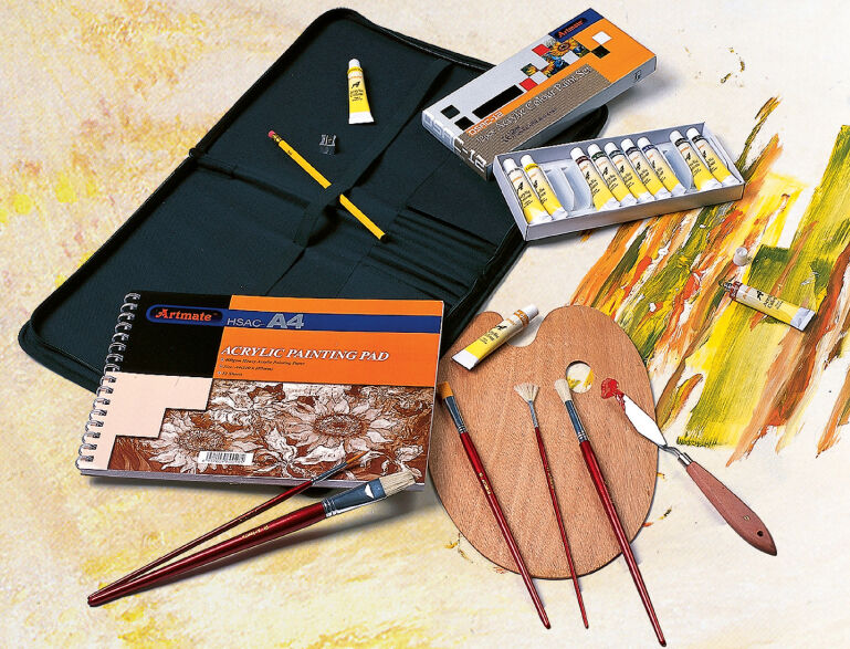 Acrylic Painting Art Artist Portfolio Kit Set Paints