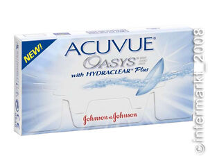 Acuvue-OASYS-Hydraclear-PLUS-1-6-Non-Stop-Linsen-2-Wochenlinsen-Neu-OVP
