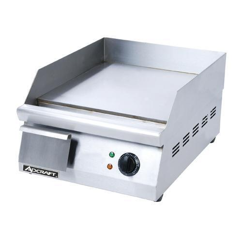 """Adcraft Grid 16 16"""" Countertop Electric Griddle Flat Top Grill"""