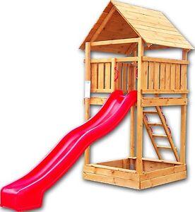 adas spielturm spielplatz kinderspielturm spielhaus kinderspielhaus mit rutsche ebay. Black Bedroom Furniture Sets. Home Design Ideas