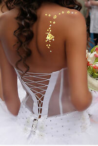Addttoo Wedding Vajazzle Gold Bells Clear Crystals with ...