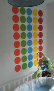 Adesivi Artistici Per Pareti 64 Pois Colorate In Vinile  eBay
