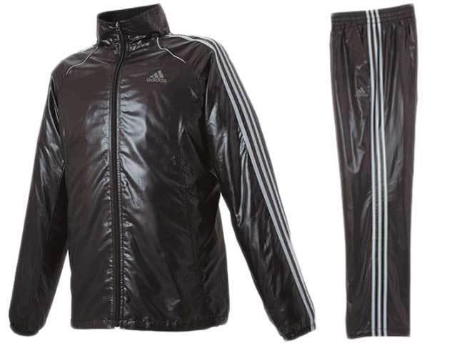 aaf3ed46b2656 Cal Surf Shiny Nylon Tracksuit Jacket Pants M Black & Gray NEW on ...