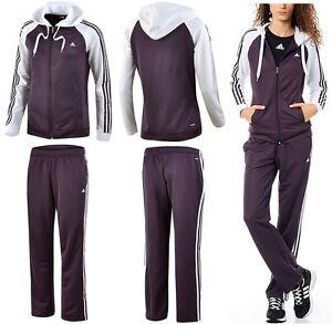 adidas damen trainingsanzug jogginganzug sport anzug suit. Black Bedroom Furniture Sets. Home Design Ideas