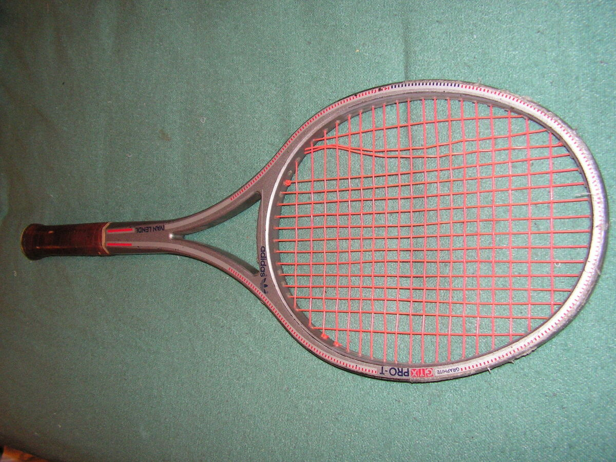 Adidas GTX Pro T Ivan Lendl Tennis Racquet 3 Good Condition RARE on ... 22af9b82da3