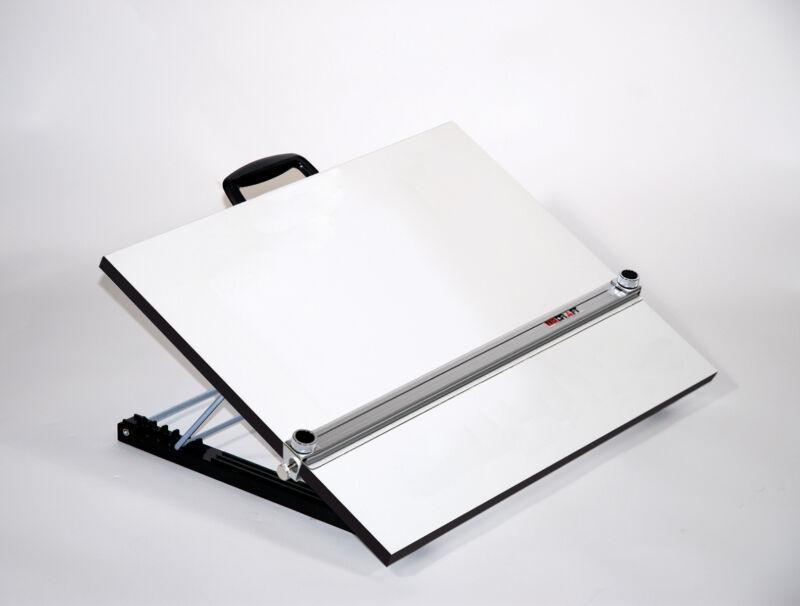 Adjustable Angle Portable Drafting Table With Straightedge