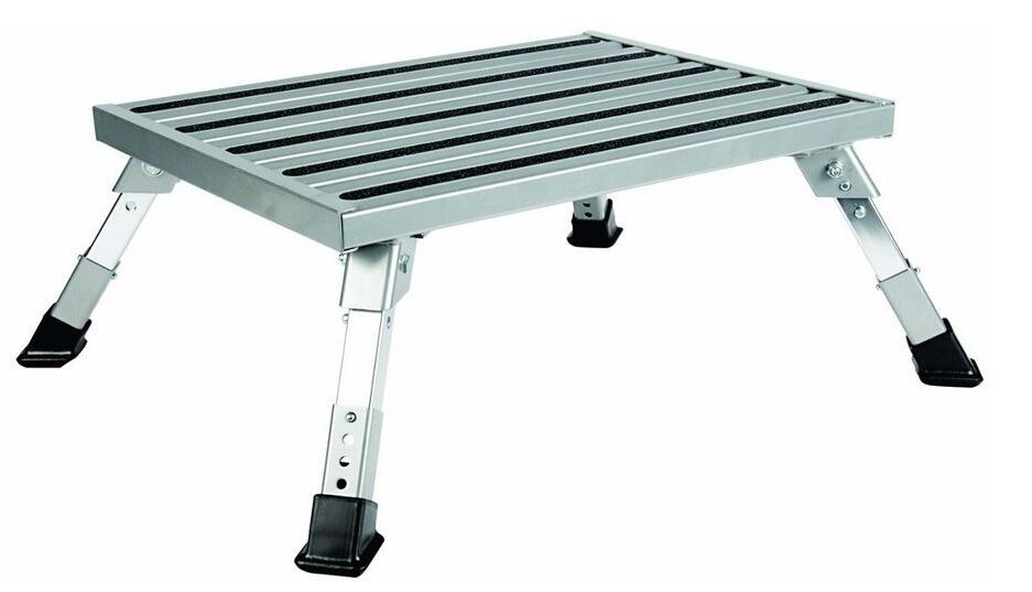 Adjustable Folding Platform Step Stool Rv Trailer Camper