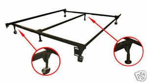 adjustable queen king metal bed frame assembly easy new ebay