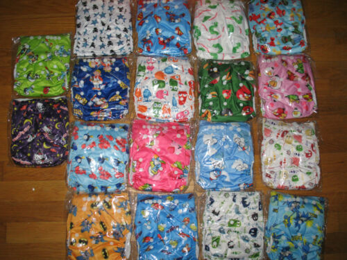 Adorable One Size Adjustable Cartoon Pocket Cloth Diaper Boys and Girls U PICK in Baby, Diapering, Cloth Diapers | eBay