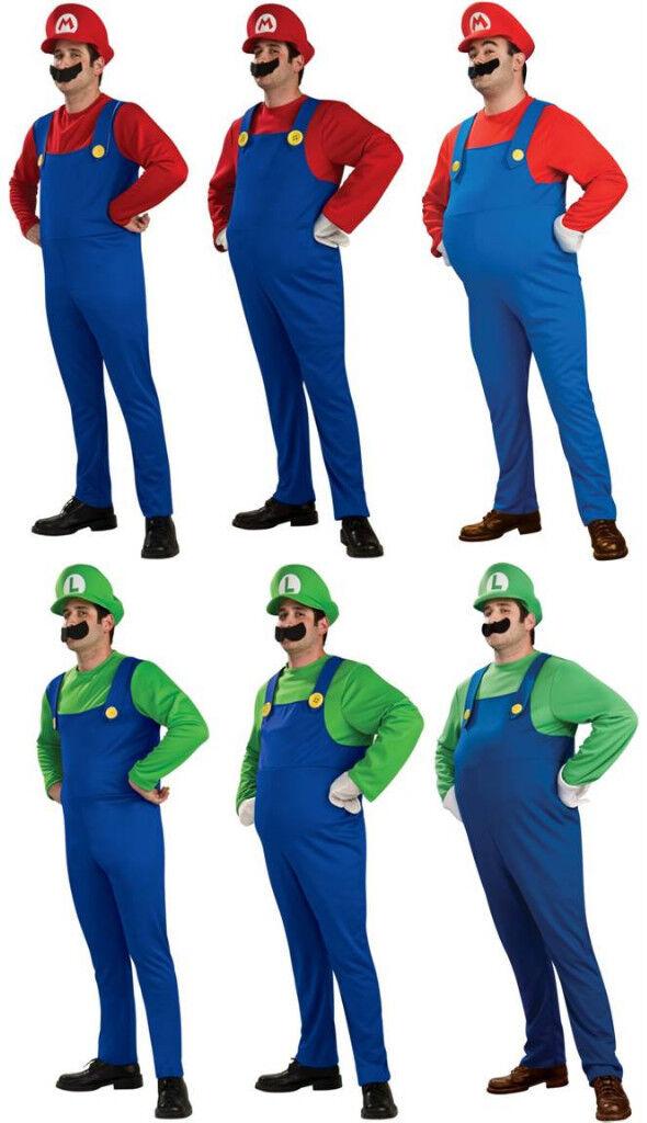 Adult Super Mario Bros. Mario Luigi Std Deluxe Costume