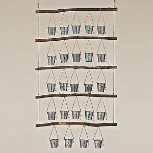 adventskalender zum bef llen rustikal landhaus holz eimer gl ckchen 73 x120 ebay. Black Bedroom Furniture Sets. Home Design Ideas