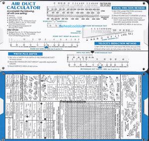 Hvac Duct Ductulator Hvac Duct Sizing Calculator