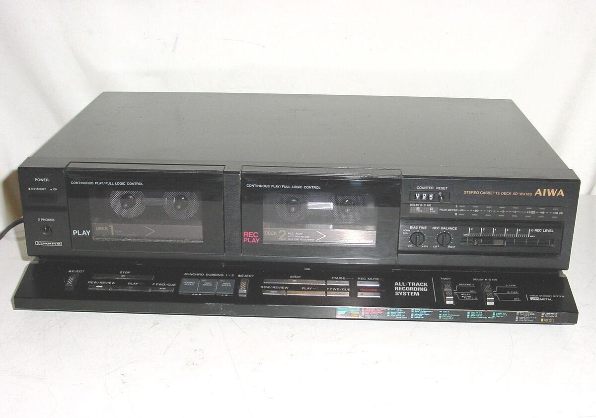 Aiwa Cassette Player Aiwa ad Wx180 Dual Cassette