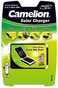 Akkuladegeraet-Solar-Camelion-SBC3001-auch-ueber-USB-verwendbar-fuer-AA-AAA