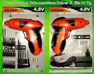 Akkuschrauber-Bohrmaschiene-4-8-V-600-mAh-Bohrer-Bits-Schnellschrauber-Orange-K2