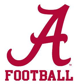Alabama Crimson Tide Football Clear Vinyl Decal Car Truck Sticker UA