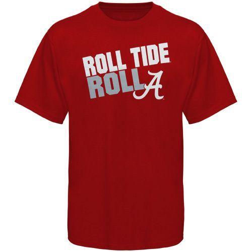 Alabama Crimson Tide Roll Tide Roll Slogan T Shirt Crimson