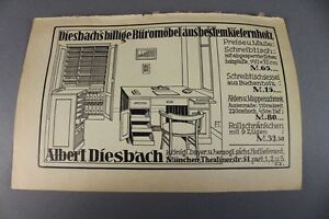 albert diesbach m bel gesch ft m nchen alte werbung auf papier um 1900 s119 ebay. Black Bedroom Furniture Sets. Home Design Ideas
