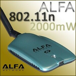 Alfa AWUS036NH 802.11n 2000mW WIRELESS-N USB adapter 2w in Computers/Tablets & Networking, Home Networking & Connectivity, USB Wi-Fi Adapters/Dongles | eBay