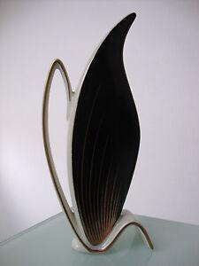 Alka-Vase-Krug-sehr-seltenes-Dekor-50er-zeittypisch-organisches-Design