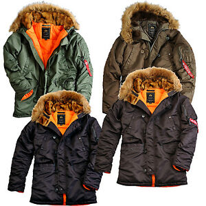 alpha industries damen wintermantel parka jacke winter 113007 n3b vf. Black Bedroom Furniture Sets. Home Design Ideas