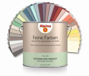 alpina feine farben bunte farbe wandfarbe innenfarbe farbkraft deckkraft matt ebay. Black Bedroom Furniture Sets. Home Design Ideas