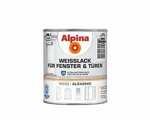 alpina wei lack f r fenster und t ren blockfester speziallack fenster t ren ebay. Black Bedroom Furniture Sets. Home Design Ideas