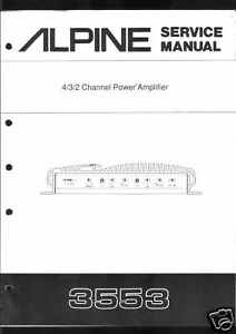 Alpine-Original-Service-Manual-Car-Amplifier-3553