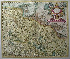 Alsatia-inferior-Noerdliches-Elsass-Strassburg-Von-Gerhard-Mercator-1607
