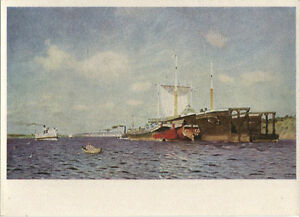Alte-Kunstpostkarte-I-I-Lewitan-Frische-Brise