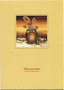 Alte-Kunstpostkarte-Ivica-Cenkovcan-Blumenparadies