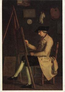 Alte-Kunstpostkarte-J-H-Wilhelm-Tischbein-Selbstbildnis-an-der-Staffelei