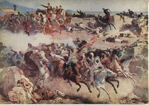 Alte-Kunstpostkarte-M-Fortuny-Schlacht-von-Tetuan