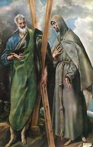 Alte-Kunstpostkarte-Museo-del-Prado-San-Andres-y-San-Francisco