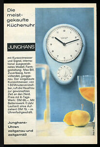 alte reklame werbung 1963 junghans k chenuhr entwurf und gestaltung max bill ebay. Black Bedroom Furniture Sets. Home Design Ideas