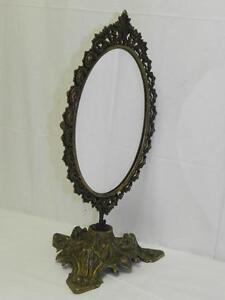 alter messing tischspiegel kosmetikspiegel tisch spiegel. Black Bedroom Furniture Sets. Home Design Ideas