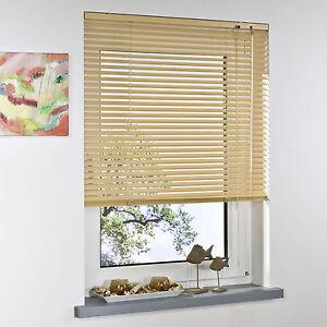 alu jalousie aluminium lamellen fenster t r rollo jalousette klemmtr ger beige ebay. Black Bedroom Furniture Sets. Home Design Ideas