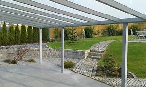 alu terrassen berdachung terrassendach carport 5m x 3m vs glas inkl montage ebay. Black Bedroom Furniture Sets. Home Design Ideas