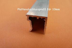 alu u profil plattenabschlussprofil gew chshaus zubeh r 10mm stegplatte ebay. Black Bedroom Furniture Sets. Home Design Ideas