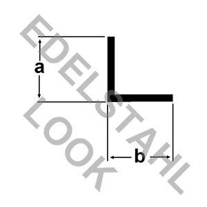 alu winkel edelstahl look 2 meter eloxiert aluprofil winkelstange winkprofil ebay. Black Bedroom Furniture Sets. Home Design Ideas