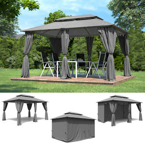 aluminium garten pavillon 3x4m gartenm bel partyzelt gazebo pavillion gartenzelt ebay. Black Bedroom Furniture Sets. Home Design Ideas