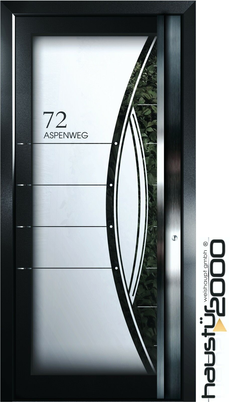 aluminium haust r ganzglasf llung alu t r n ma m ht 5499 gla rs haust r2000 ebay. Black Bedroom Furniture Sets. Home Design Ideas