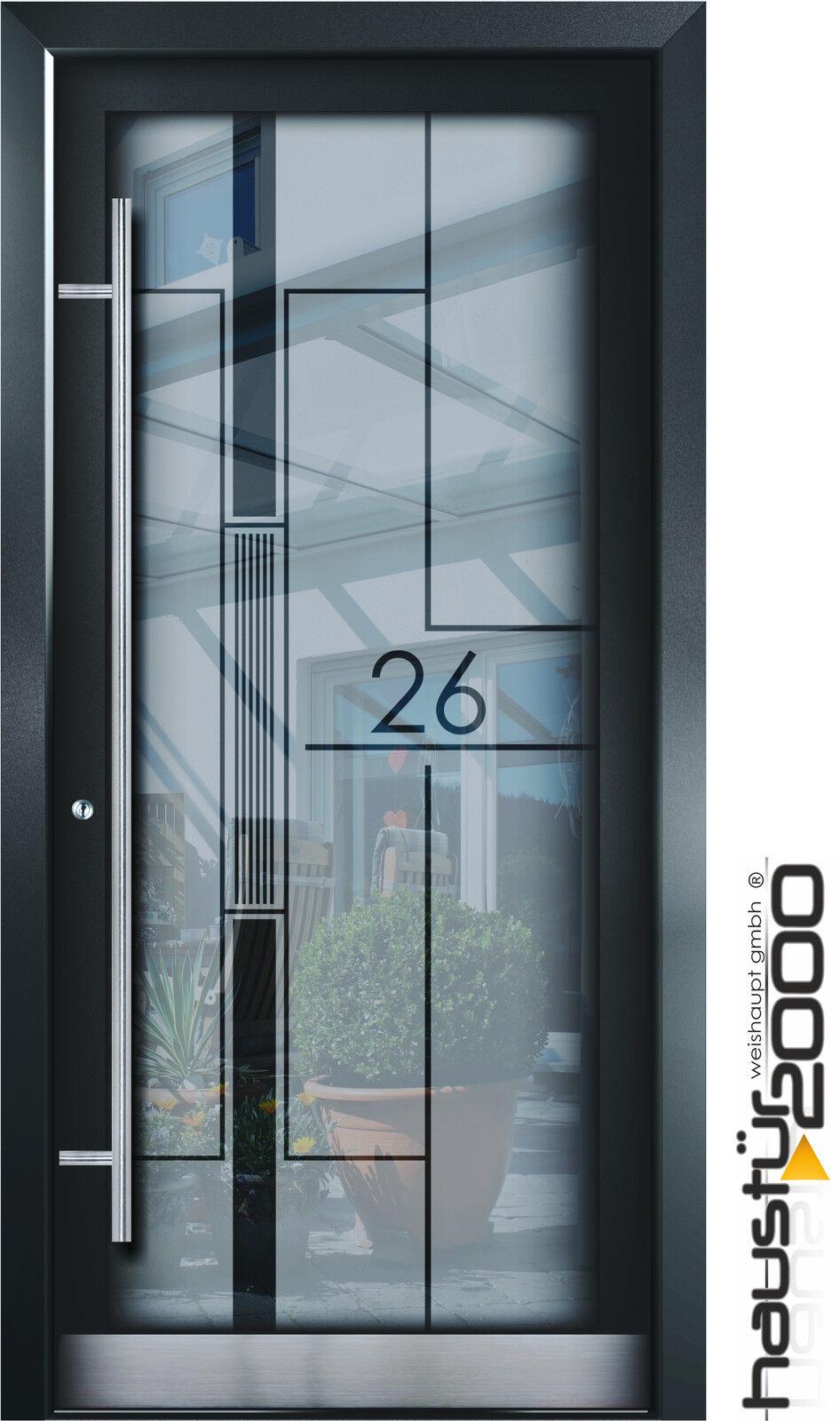 Haustür glas  Aluminium Haustür Glas Tür Alu Haustüren nach Maß Mod. HT 5479.1 ...